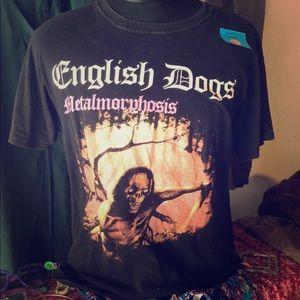 Shirts - Punk English Dogs Tour T Shirt
